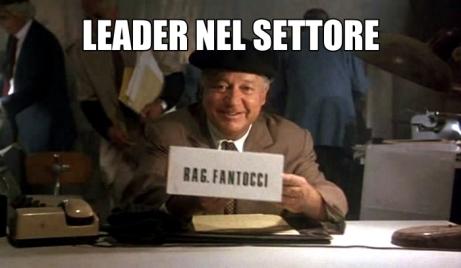 LEADER NEL SETTORE